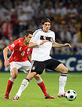 Mario Gomez and Jacek Bak at Euro 2008. Germany-Poland in Klagenfurt (Austria) 06082008.