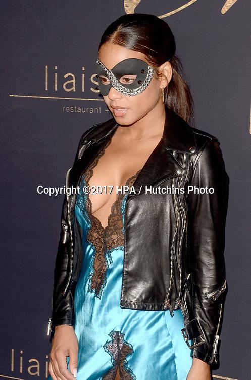 "LOS ANGELES - MAY 20:  Christina Milian at the ""Karma Masquerade"" at the Liaison lounge on May 20, 2017 in Hollywood, CA"