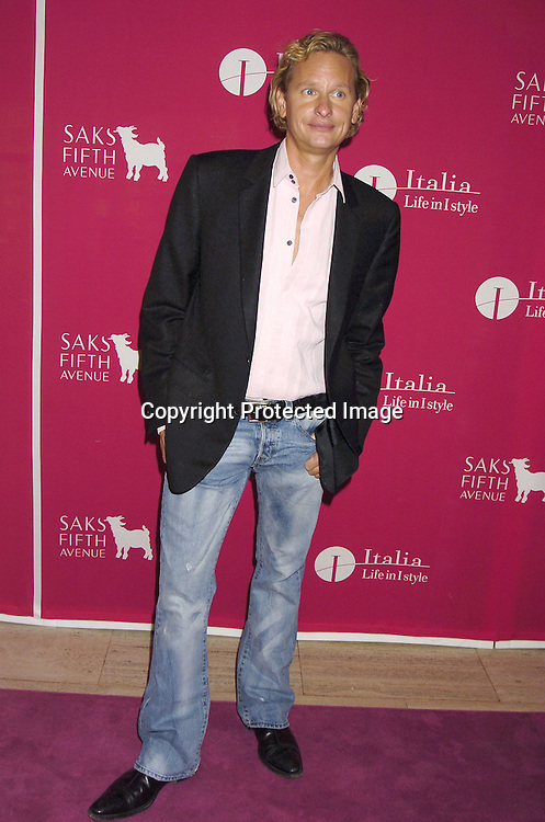 Carson Kressley ..at the launch of  Wild About Cashmere Party at Saks Fifth Avenue benefitting The Central Park Conservancy  on September 20, 2005...Photo by Robin Platzer, Twin Images