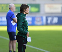 20190810 - DENDERLEEUW, BELGIUM : Belgian fourth official Caroline Lanssens pictured during the female soccer game between the Greek PAOK Thessaloniki Ladies FC and the Northern Irish Linfield ladies FC , the second game for both teams in the Uefa Womens Champions League Qualifying round in group 8 , Wednesday 7 th August 2019 at the Van Roy Stadium in Denderleeuw  , Belgium  .  PHOTO SPORTPIX.BE | DAVID CATRY