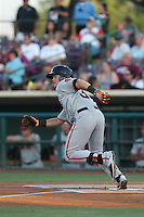 Christian Arroyo (38) of the San Jose Giants bats during a game against the Inland Empire 66ers at San Manuel Stadium on May 30, 2015 in San Bernardino, California. Inland Empire defeated San Jose, 6-4. (Larry Goren/Four Seam Images)
