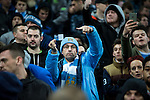 © Joel Goodman - 07973 332324 . 08/12/2015 . Manchester , UK . Manchester City fans watching Manchester City vs Borussia Monchengladbach in the UEFA Champions League at the Etihad Stadium . Photo credit : Joel Goodman