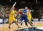10.02.2018, EWE Arena, Oldenburg, GER, BBL, EWE Baskets Oldenburg vs Rockets Erfurt, im Bild<br /> Mickey McCONNELL (EWE Baskets Oldenburg #32)<br /> Karsten TADDA (EWE Baskets Oldenburg #9)<br /> Daniel SCHMIDT (Rockets Erfurt #5 )<br /> Foto &copy; nordphoto / Rojahn