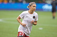 Portland, Oregon - Saturday July 9, 2016: Portland Thorns FC midfielder Maureen Fitzgerald (27) during a regular season National Women's Soccer League (NWSL) match at Providence Park.