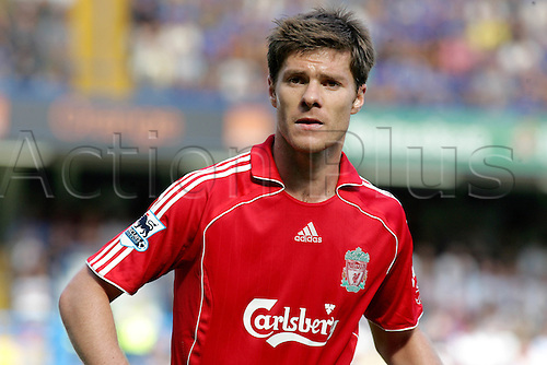17 September 2006: Portrait of Liverpool midfielder Xabi Alonso during the Premiership game between Chelsea and Liverpool, played at Stamford Bridge. Chelsea won the match 1-0. Photo: Actionplus....060917 football soccer player