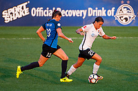 Kansas City, MO - Sunday September 3, 2017: Brittany Taylor, Samantha Kerr during a regular season National Women's Soccer League (NWSL) match between FC Kansas City and Sky Blue FC at Children's Mercy Victory Field.