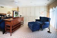 Master Bedroom With Hidden Revolving TV