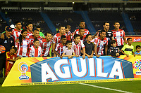 BARRANQUILLA - COLOMBIA - 21 - 05 - 2017: Los jugadores de Atletico Junior, posan para una foto, durante partido de la fecha 19 entre Atletico Junior y Deportes Tolima por la Liga Aguila I-2017, jugado en el estadio Metropolitano Roberto Melendez de la ciudad de Barranquilla. / The players of Atletico Junior, pose for a photo, during a match of the date 19th between Atletico Junior and Deportes Tolima for the Liga Aguila I-2017 at the Metropolitano Roberto Melendez Stadium in Barranquilla city, Photo: VizzorImage / Alfonso Cervantes / Cont.