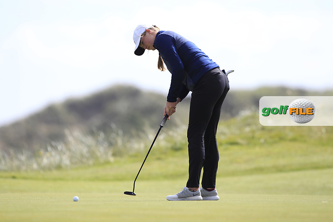 Euphemie Rhodes (ENG) on the 7th green during Round 3 Matchplay of the Women's Amateur Championship at Royal County Down Golf Club in Newcastle Co. Down on Friday 14th June 2019.<br />