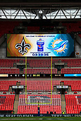 1st October 2017, Wembley Stadium, London, England; NFL International Series, Game Two; Miami Dolphins versus New Orleans Saints; A general view of Wembley Stadium hosting the NFL
