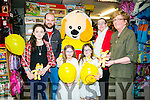 Caballs Toymaster  launch the charity fundraiser in aid of Erin O'Sullivan on Saturday. Pictured Erin O'Sullivan with family Louise O'Sullivan, Paula O'Sullivan, Erin O'Sullivan, Megan O'Sullivan, Caroline O'Sullivan, Caballs owner  Ann Laide and Toby