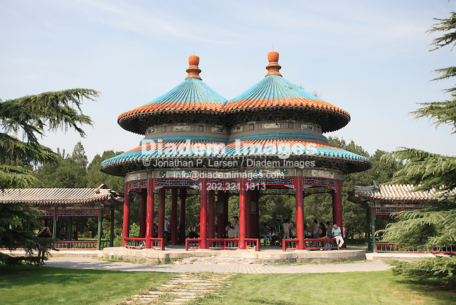 Double Circular Longevity Pavilion in the Temple of Heaven park, Beijing. (Photograph by Jonathan P. Larsen)