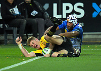 Jordie Barrett scores during the Super Rugby match between the Hurricanes and Stormers at Westpac Stadium in Wellington, New Zealand on Friday, 5 May 2017. Photo: Dave Lintott / lintottphoto.co.nz