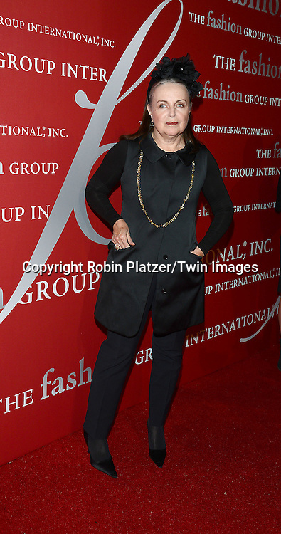 Patricia Underwood attends the 31st Annual Night of Stars &quot;The Protagonists&quot;<br /> presented by The Fashion Grouip International on October 23, 2014 at Cipriani Wall Street in New York City. <br /> <br /> photo by Robin Platzer/Twin Images<br />  <br /> phone number 212-935-0770