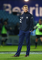 28th February 2020; RDS Arena, Dublin, Leinster, Ireland; Guinness Pro 14 Rugby, Leinster versus Glasgow; Leinster head coach Leo Cullen watches  as the players warm up before the game
