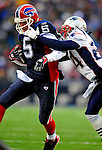 28 December 2008: Buffalo Bills' quarterback Trent Edwards scrambles for yardage against the New England Patriots at Ralph Wilson Stadium in Orchard Park, NY. The Patriots kept their playoff hopes alive defeating the Bills 13-0 in their 16th win against Buffalo of their past 17 meetings. ***** Editorial Use Only ******..Mandatory Photo Credit: Ed Wolfstein Photo