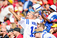 Landover, MD - September 16, 2018: A Indianapolis Colts fan  during game between the Indianapolis Colts and the Washington Redskins at FedEx Field in Landover, MD. The Colts defeated the Redskins 21-9.(Photo by Phillip Peters/Media Images International)