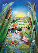 Ron, CUTE ANIMALS, Quacker, paintings, green duck, hedgehog(GBSG8085,#AC#) Enten, patos, illustrations, pinturas