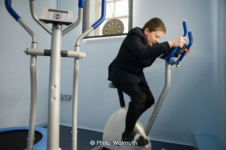 Gym room at Hendon Autism Resource Provision (HARP) at Hendon School, Barnet, London.
