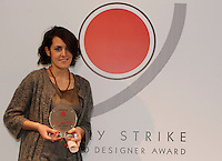 NAPOLI 21/03/2013 MUSEO PLART CERIMONIA DI PREMIAZIONE DELLA .VIII EDIZIONE DEL LUCKY STRIKE TALENTED DESIGNER AWARD ORGANIZZATO DALLA RAYMOND LOEWY  FOUNDATION.NELLA FOTO Agnese Tamburrini