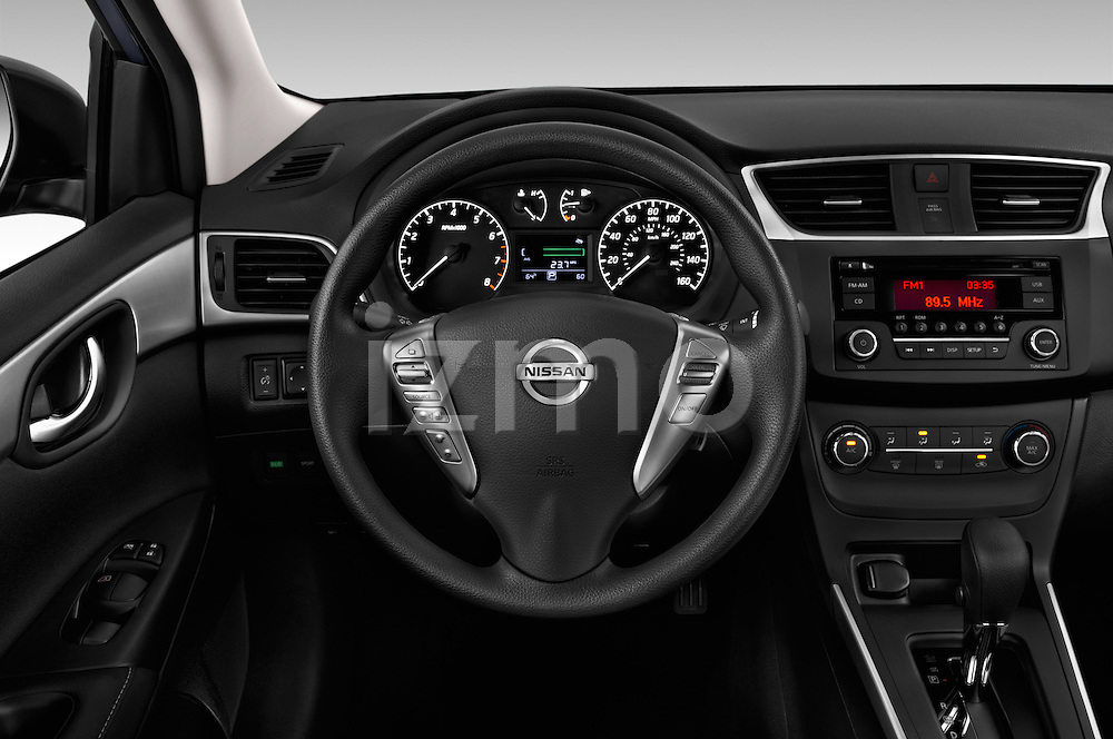 Car pictures of steering wheel view of a 2017 Nissan Sentra S 4 Door Sedan Steering Wheel