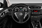 Car pictures of steering wheel view of a 2016 Nissan Sentra S 4 Door Sedan Steering Wheel