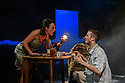 """York, UK. 14.11.2019. """"Hello and Goodbye"""", by Atholl Fugard, opens at York Theatre Royal, and runs from the  14th to the 30th November 2019. The production is directed by John R Wilkinson, lighting design is by Sara Burns, with set and costume design by Laura Ann Price. The cast is: Emilio Iannucci (Johnnie) and Jo Mousley (Hester). Photograph © Jane Hobson."""
