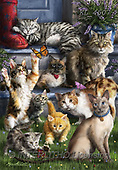 Interlitho-Marcello, REALISTIC ANIMALS, REALISTISCHE TIERE, ANIMALES REALISTICOS, paintings+++++,cats,KL4507,#A#, EVERYDAY ,puzzles ,puzzles