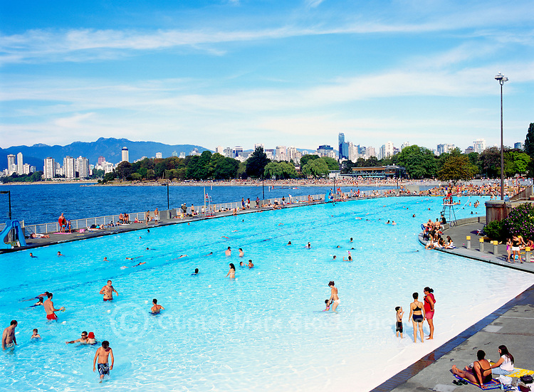 Kits Kitsilano Outdoor Swimming Pool Vancouver Bc Canada