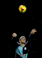 Jason McCarthy of Wycombe Wanderers takes a throw in during the Sky Bet League 2 match between Yeovil Town and Wycombe Wanderers at Huish Park, Yeovil, England on 24 November 2015. Photo by Andy Rowland.