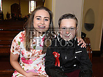 Ryan Delaney who was confirmed in the Church of the Immaculate Conception Termonfeckin pictured with sponsor and sister hannah Delaney. Photo:Colin Bell/pressphotos.ie