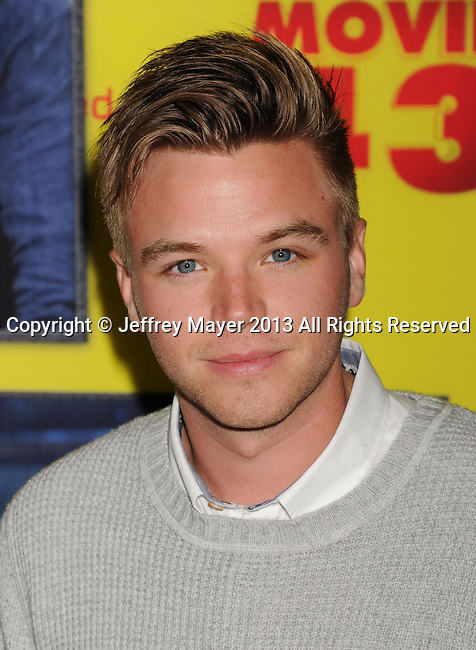 HOLLYWOOD, CA - JANUARY 23: Brett Davern attends the premiere of Relativity Media's 'Movie 43' at TCL Chinese Theatre on January 23, 2013 in Hollywood, California.