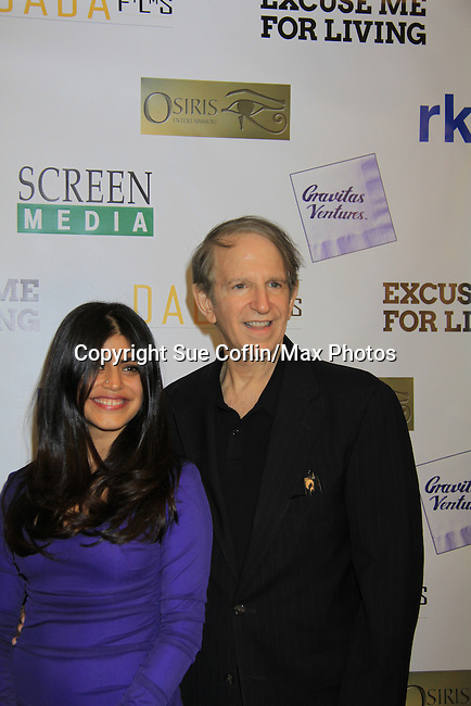 "One Life To Live Shenaz Treasury (in film) poses with writer, director and producer Ric Klass at the premiere of ""Excuse Me For Living"" on October 12, 2012 at AMC Loews Village 7, New York City, New York.  (Photo by Sue Coflin/Max Photos)"