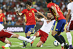 Spain's David Silva and Georgia's Kashia during the up match between Spain and Georgia before the Uefa Euro 2016.  Jun 07,2016. (ALTERPHOTOS/Rodrigo Jimenez)