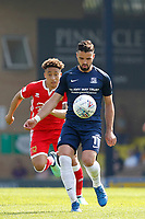 Stephen McLaughlin of Southend United during the Sky Bet League 1 match between Southend United and MK Dons at Roots Hall, Southend, England on 21 April 2018. Photo by Carlton Myrie.