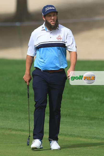 Andrew Johnston (ENG) on the 3rd during Round 1 of the Omega Dubai Desert Classic, Emirates Golf Club, Dubai,  United Arab Emirates. 24/01/2019<br /> Picture: Golffile | Thos Caffrey<br /> <br /> <br /> All photo usage must carry mandatory copyright credit (© Golffile | Thos Caffrey)