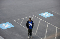 Dr. Brian Glenney, Professor of Philosophy at Gordon College, in Wenham, Massachusetts, helped develop the Accessible Icon as part of the Accessible Icon Project.  The icon is a redesign of the International Symbol of Access (also known as the handicap symbol) that shows an active and engaged person with arms in motion.  Glenney's research focuses on the philosophy of perception and he maintains active interest in graffiti and street art.  The Accessible Icon has been adopted by cities and institutions around the world, including Gordon College, Nissan, New York City, Malden, MA, and others.