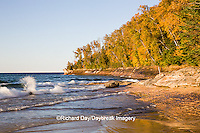 64745-00109 Miners Beach in fall at sunset Pictured Rocks National Lakeshore near Munising MI
