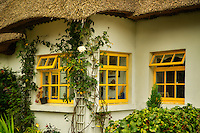Thatched cotages in Adare, Ireland.