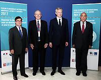 GRA250. PARÍS, 09/06/2017.- Fotografía facilitada por la OCDE, del presidente de Perú, Pedro Pablo Kuczynski (2i), junto al secretario general de la OCDE, Ángel Gurría (d), el ministro francés de Economía, Bruno Le Maire (2d), y el presidente del BID, Luis Alberto Moreno (i), durante la novena edición del Foro Económico Internacional sobre Latinoamérica y el Caribe. EFE/ ***SÓLO USO EDITORIAL***