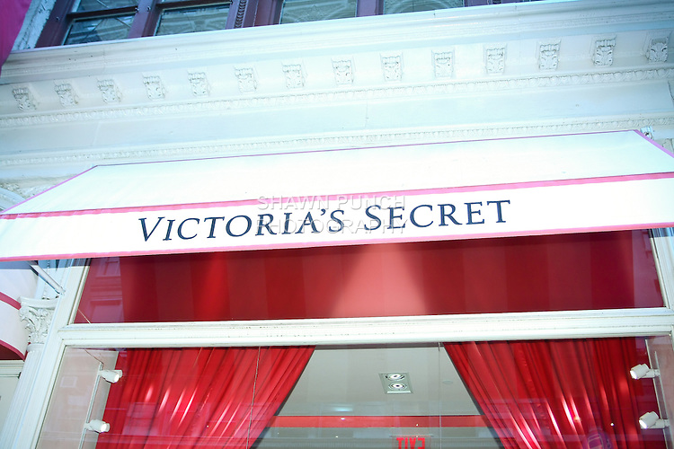"Victoria's Secret store front during the ""Incredible by Victoria's Secret"" launch at the Victoria Secret SOHO Store, August 10, 2010."