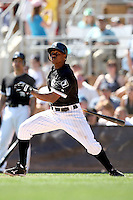 Juan Pierre #1 of the Chicago White Sox plays in a spring training game against the Texas Rangers at Camelback Ranch on March 12, 2011 in Glendale, Arizona. .Photo by:  Bill Mitchell/Four Seam Images.