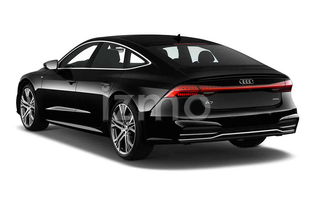 Car pictures of rear three quarter view of a 2019 Audi A7 Prestige 5 Door Hatchback angular rear
