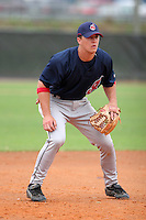 Cleveland Indians minor leaguer Nick Petrucci during Spring Training at the Chain of Lakes Complex on March 16, 2007 in Winter Haven, Florida.  (Mike Janes/Four Seam Images)
