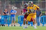 Los Angeles, CA 02/15/14 - Ian Connell (Arizona State #50) and unidentified Stanford player(s)