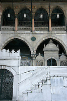 Detail of the New Mosque at Eminonu in Istanbul, Turkey