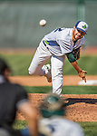 5 September 2016: Vermont Lake Monster pitcher Brandon Bailey on the mound against the Lowell Spinners at Centennial Field in Burlington, Vermont. The Lake Monsters defeated the Spinners 9-5 to close out their 2016 NY Penn League season. Mandatory Credit: Ed Wolfstein Photo *** RAW (NEF) Image File Available ***