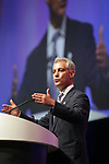 Chicago, June 28, 2013 : OPENING GENERAL SESSION with ALA President Maureen Sullivan and notable speakers Chicago Mayor Rahm Emmanuel and Author Steven Levitt (Freakonomics).  <br /> (Jean-Marc Giboux / AP Images for Library Journal)