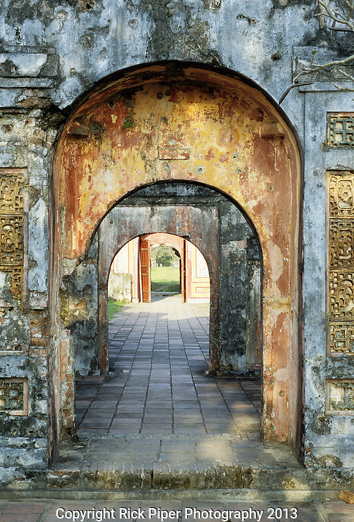Hung Temple Arches - Hung Temple gate arches at the Imperial Enclosure, Hue, Viet Nam