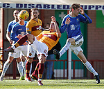 30.03.2019 Motherwell v St Johnstone: Alex Rodriguez-Gorrin and Murray Davidson